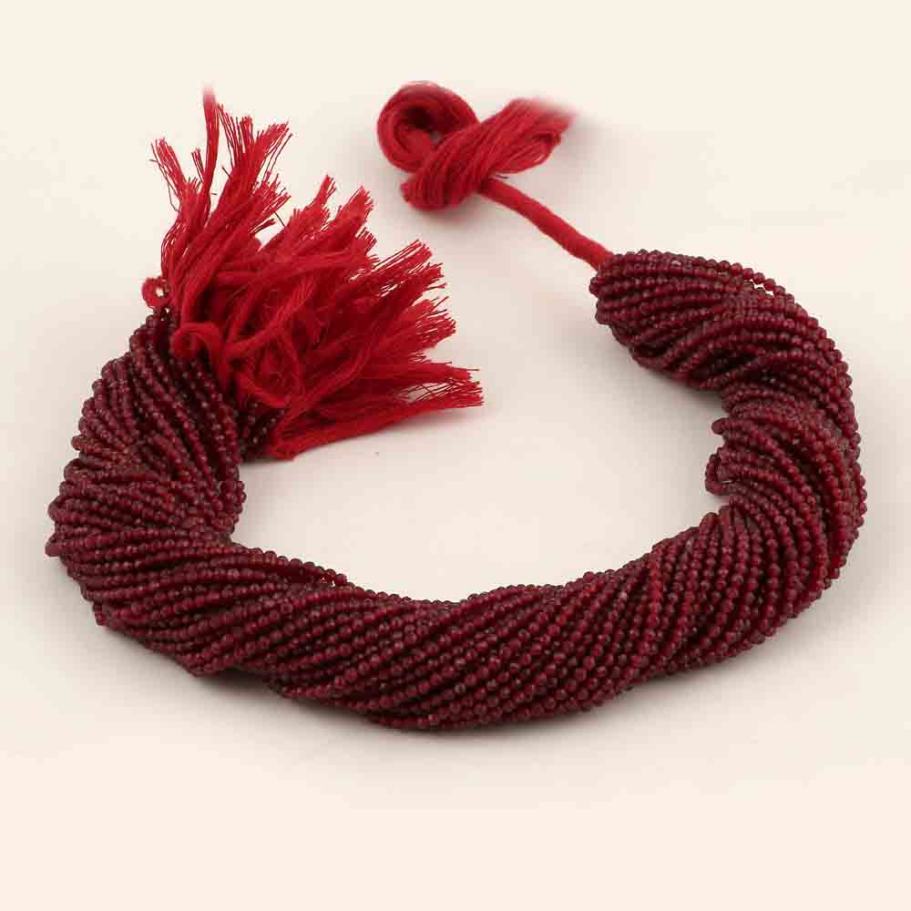 RED ZADE ROUNDELLE BEADS