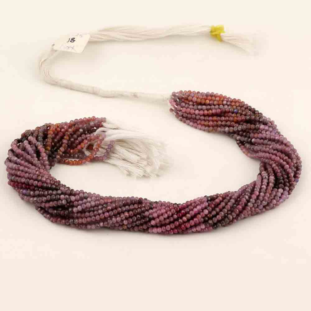 RUBY ROUNDELLE BEADS